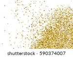 gold glitter texture isolated... | Shutterstock .eps vector #590374007