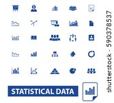 statistical data icons | Shutterstock .eps vector #590378537