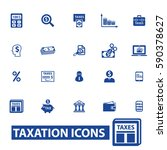 tax icons | Shutterstock .eps vector #590378627