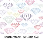 colorful silhouettes faceted... | Shutterstock .eps vector #590385563