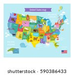 vector map of america with the... | Shutterstock .eps vector #590386433