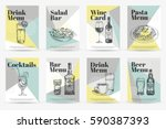 vector hand drawn food and... | Shutterstock .eps vector #590387393