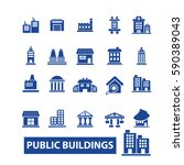 buildings icons | Shutterstock .eps vector #590389043