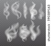 smoke isolated on transparent... | Shutterstock .eps vector #590389163