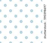 blue daisy flower seamless... | Shutterstock .eps vector #590398697