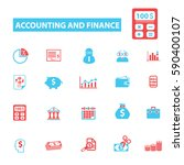 accounting and finance icons  | Shutterstock .eps vector #590400107