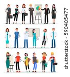 professional teams set of... | Shutterstock .eps vector #590405477