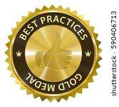 best practices award gold medal ... | Shutterstock . vector #590406713