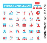project management icons | Shutterstock .eps vector #590415473