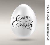 happy easter calligraphy...   Shutterstock .eps vector #590417753