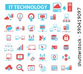 it technology icons  | Shutterstock .eps vector #590419097
