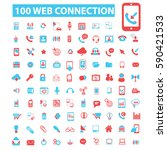 web connection icons | Shutterstock .eps vector #590421533