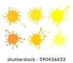 juice splash set of labels.... | Shutterstock .eps vector #590436653