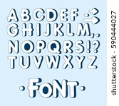 graphic font. handmade sans... | Shutterstock .eps vector #590444027