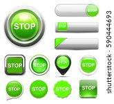 stop button | Shutterstock .eps vector #590444693