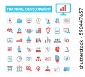 training development icons  | Shutterstock .eps vector #590447657