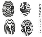 grey fingerprint types detailed ... | Shutterstock .eps vector #590458427