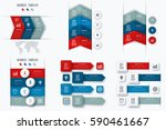 set with infographics. data and ... | Shutterstock .eps vector #590461667
