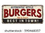 burgers vintage rusty metal... | Shutterstock .eps vector #590468357