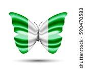 nigerian flag butterfly   Shutterstock .eps vector #590470583