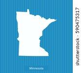 map of minnesota | Shutterstock .eps vector #590475317