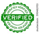 grunge green verified round... | Shutterstock .eps vector #590481953