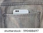 modern new smart phone with... | Shutterstock . vector #590488697