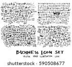 business doodles sketch vector... | Shutterstock .eps vector #590508677