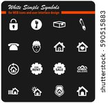 real estate vector icons for... | Shutterstock .eps vector #590515883