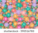 colorful flowers  vector... | Shutterstock .eps vector #590516783