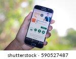 chiang mai thailand   march 1 ... | Shutterstock . vector #590527487