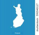 map of finland | Shutterstock .eps vector #590540117