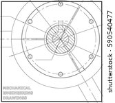 mechanical engineering drawings.... | Shutterstock .eps vector #590540477