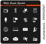 media vector icons for user...   Shutterstock .eps vector #590542967