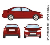car vector template on white... | Shutterstock .eps vector #590545037