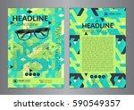 business brochure flyer design...   Shutterstock .eps vector #590549357