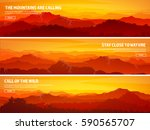 mountains and forest. wild... | Shutterstock .eps vector #590565707