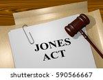 "3d illustration of ""jones act""... | Shutterstock . vector #590566667"