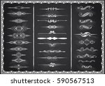 collection of chalk dividers on ... | Shutterstock .eps vector #590567513