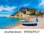 Beach Tossa De Mar Fortress - Fine Art prints