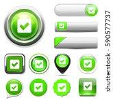 confirm icon | Shutterstock .eps vector #590577737