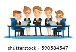meeting business people.... | Shutterstock .eps vector #590584547