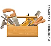vector toolbox with retro... | Shutterstock .eps vector #590589833