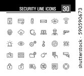 security line icons   Shutterstock .eps vector #590590673
