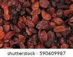 raisins as background grape...   Shutterstock . vector #590609987