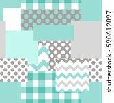 patchwork seamless pattern. | Shutterstock .eps vector #590612897