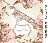 Glamorous Card With A Bird