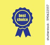 award icon with best choice | Shutterstock .eps vector #590622557