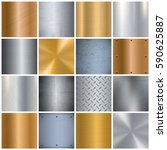 metal sheets texture realistic... | Shutterstock .eps vector #590625887