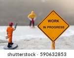 small figures with work in... | Shutterstock . vector #590632853